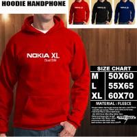 JAKET HOODIE Handphone NOKIA XL Dual SIM Font/SWEATER/No Zipper/Gadget