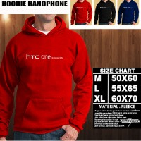 JAKET HOODIE Handphone HTC ONE E9 DUAL Logo Font/SWEATER/No Zipper