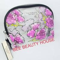 Medium Pouch makeup tas kosmetik Victoria Secret semicircle flowery
