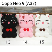 Softcase Casing Silicone Karakter Cat Stitch 3D 4D Case Oppo Neo 9 A37