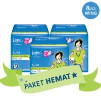 3 PACK KOTEX SLIM WING ISI 8