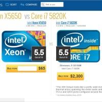 6 Core 12 Thread LGA 1366 Xeon X5650 Setara i7 5820k