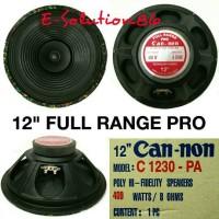 """Speaker Full Range 12"""" CANNON PRO 400w Speker Fullrange Canon Can-non"""