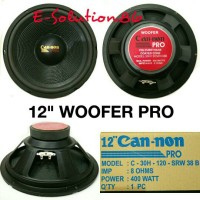"""Speaker Woofer 12"""" CANNON PRO 400w Speker Canon Woofer 12 inch Can-non"""