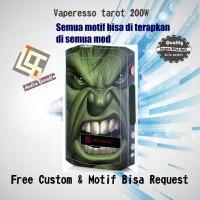 harga Garskin Vaperesso Tarot 200w Motif Hulk, Motif Bisa Request Tokopedia.com