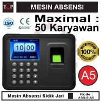 PROMO !!! Mesin Fingerprint Finger print Absen ABSENSI SIDIK JARI A5