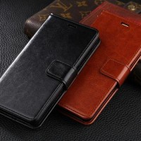 Leather Flip Cover Wallet Samsung Note 2 / 3 / 4 Case Dompet Kulit HP