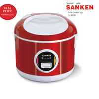 Rice Cooker 2 L Sanken SJ 3000/ SJ3000 Merah