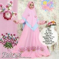 baju butik, gamis pesta syari fairuz pink busana muslim maxi