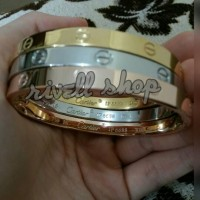 Jual Bangle/Gelang CARTIER LOVE PREMIUM (ANTI KARAT + ANTI LUNTUR) Murah