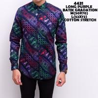 4431 Long Purple Batik Gradation Kemeja Batik Panjang Pria