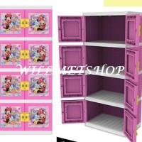 harga Lemari Plastik 4 Susun Kunci Premium Doraemon Minnie Naiba 8664 8674 Tokopedia.com