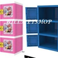 harga Lemari Plastik 3 Susun Kunci Premium Naiba Doraemon Minnie Tokopedia.com