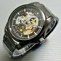 Jam Tangan Pria Rolex Skeleton Full Black