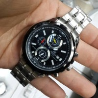 Jam Tangan Casio Edifice Silver Black