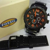 Jam Tangan Fossil Chronograph Free Leather