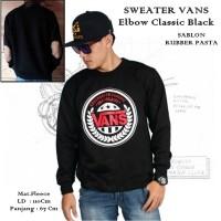 Jaket SW Vans Elbow Classic Black Sweater Pria Wanita Grosir Murah