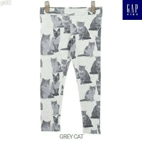 Celana Legging Branded Anak Cewek Remaja Grey Cat 4t - 13t