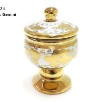 TOPLES Medalion Jar CR722L Motif Gemini (ada ukuran S dan M) VICENZA