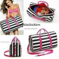 Jual Victoria Secret Travel Bag Stripe Murah