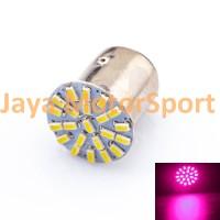 Lampu Rem Mobil / Motor S25 1157 / BAY15D 22 SMD 3014 - Pink