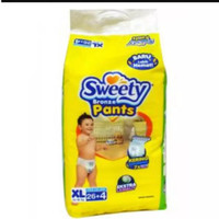 Sweety Bronze Pants Popok Bayi dan Anak Unisex Diapers Size XL - 26+4