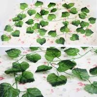 daun anggur merambat plastik / artificial climbing leaf (DAUN BESAR)
