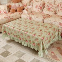 Green Forest Table Cloth shabby chic / taplak meja vintage 100*160cm