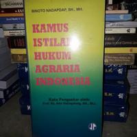 Buku Kamus Istilah Hukum Agraria Indonesia - ori