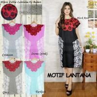 Daster Midi / Baju Tidur Wanita Dress Motif Murah Rayon Adem Seri III
