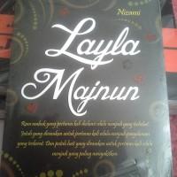 Novel Layla Majnun. Original. Laila Majnun. Sastra Timur Tengah