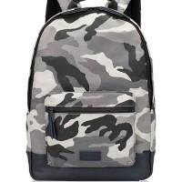 JUAL TAS FOSSIL Men Canvas Backpack Grey Multi ORIGINAL ASLI