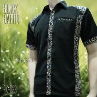 SERAGAM BATIK   Black Barito EX-033   Batik Kombinasi   Batik Pria