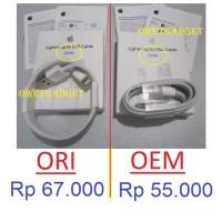 Jual ORI KABEL DATA CHARGER IPHONE 5 5s 5c 6 6s 6+ plus Ipad Mini Air Apple Murah