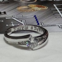 "cincin kawin nikah tunangan paladium 25% lapis rhodium""emas putih"""