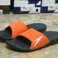 sandal black orange speedo 100% original
