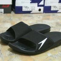 sandal hitam speedo black 100% original
