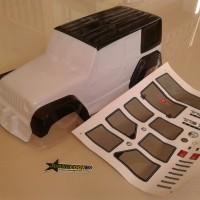 Bodyshell Jeep Wrangler Rubicon White For 1/10 Crawler Axial SCX10