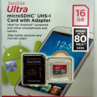 Micro sd Memory Card 16GB Class 10 SANDISK Ultra Kartu Memory HP