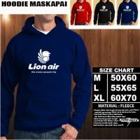 JAKET HOODIE LOGO MASKAPAI LION AIR/Sweater/No Zipper