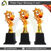 Piala/Trophy Figur Bintang 1 Set