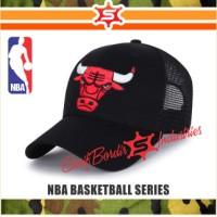 TOPI NBA BORDIR BASKET CHICAGO BULLS CHICAGO BULLS JORDAN HITAM RAPHEL