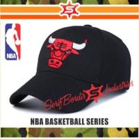 TOPI NBA BORDIR BASKET CHICAGO BULLS JORDAN HITAM RAPHEL SPECIAL WORLD