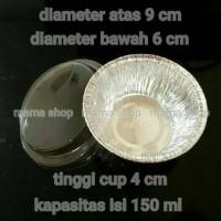 Aluminium Foil Bulat 150 ml / Cetakan Makaroni Schotel / Panggang