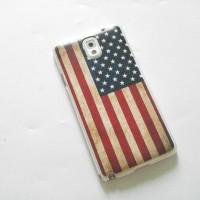 Casing Samsung Note 3 bendera Amerika hard case tipis
