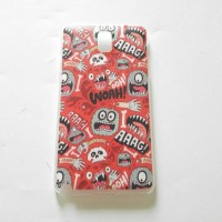 Casing Samsung Note 3 hard case red gory