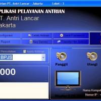 Software Antrian Pemanggil no urut Layanan Antri full