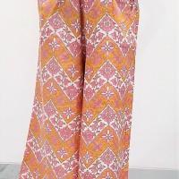 Celana Batik Kulot Panjang -Kuning pink