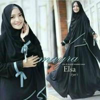 Baju Wanita Muslim Hijab Gamis Bergo Elsa Mayra Black Turkish MURAH