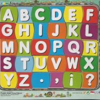 Jigsaw Puzzle Sticker Alphabet Huruf Besar 17x20
